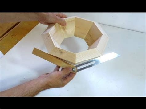 Splayed miter angle calculations and gluing - YouTube