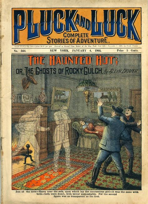 """Pluck & Luck, 1905 - """" the haunted hut or the ghosts of"""