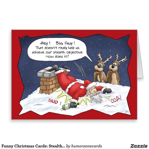 Funny Christmas Cards: Stealth Objective Holiday Card